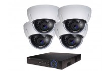 COMMERCIAL GRADE VISTA  IP SYSTEM INCLUDES 4 HD IP 3MP CAMERA  2.8MM LENS NIGHT VISION RANGE 120', HD-NVR WITH 3TB HARD DRIVE WITH POE & 04 CABLES