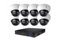 COMMERCIAL GRADE VISTA  IP SYSTEM INCLUDES 4 HD IP 3MP CAMERA  2.8 TO 12MM WITH MOTORIZEDLENS NIGHT VISION RANGE 120', HD-NVR WITH 3TB HARD DRIVE WITH POE & 08 CABLES