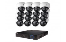 COMMERCIAL GRADE VISTA  IP SYSTEM INCLUDES 16 HD IP 3MP CAMERA  2.7 TO 12MM WITH MOTORIZED LENS NIGHT VISION RANGE 120', HD-NVR WITH 3TB HARD DRIVE WITH POE & 16 CABLES