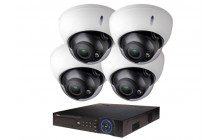 COMMERCIAL GRADE VISTA  IP SYSTEM INCLUDES 4 HD IP 3MP CAMERA  2.8 TO 12MM MPTORIZED LENS NIGHT VISION RANGE 120', HD-NVR WITH 3TB HARD DRIVE WITH POE & 04 CABLES